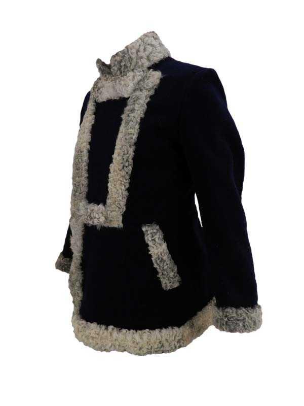 Производство и продажа Бекеша (мех серый/сукно черное) M1-041-U с доставкой по всему миру