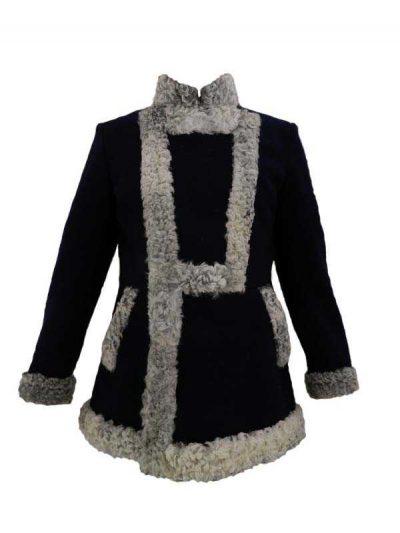 Bekesha (fur gray / black cloth) (Бекеша)-01