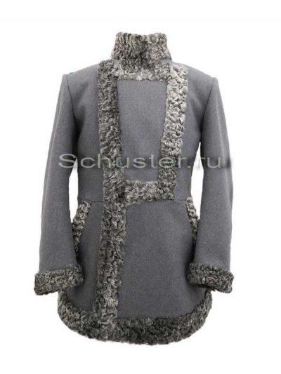 Bekesha (fur gray / cloth gray) (Бекеша) M1-026-U