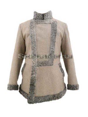 Производство и продажа Бекеша (мех серый/сукно серое шинельное) M1-038-U с доставкой по всему миру