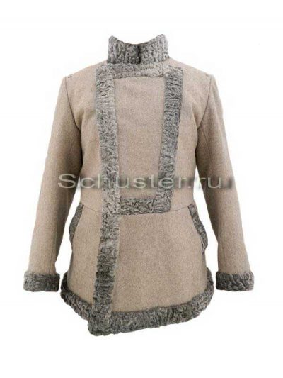 Bekesha (fur is gray / gray cloth greatcoat) (Бекеша)-01