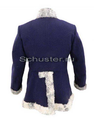 Bekesha (fur gray / cloth dark blue) (Бекеша)-02