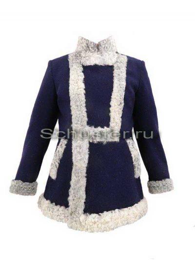 Bekesha (fur gray / cloth dark blue) (Бекеша)-01