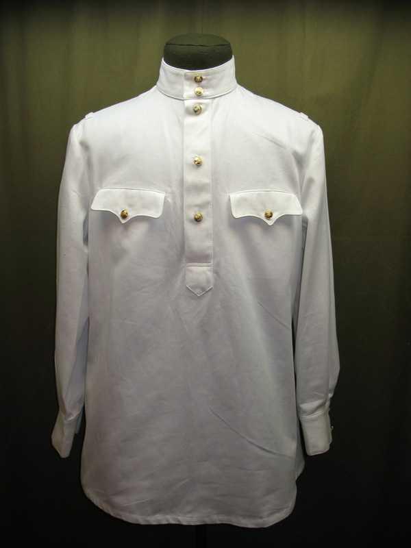Производство и продажа Гимнастерка (рубаха) летняя белая для комначсостава обр. 1943 г. M3-047-U с доставкой по всему миру