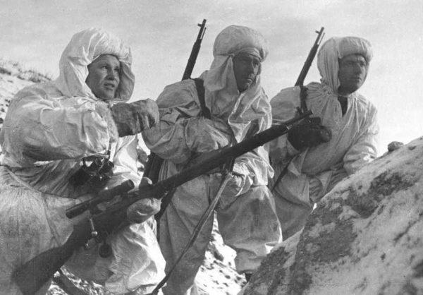 Winter white camouflage suit (Маскировочный костюм зимний) M3-050-U