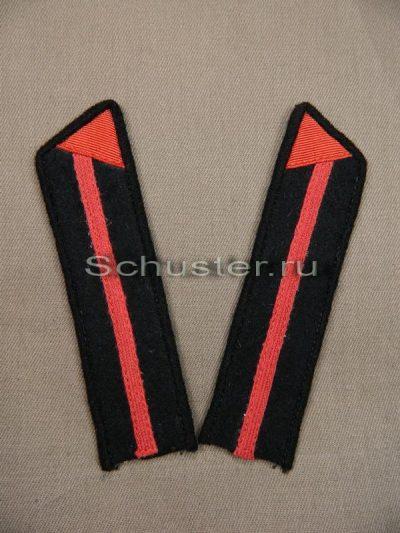 Collar tabs M40 on shirt cadets regimental school junior commanders (engineers) (Петлицы гимнастерочные курсантов полковой школы младших командиров (химические войска))-01