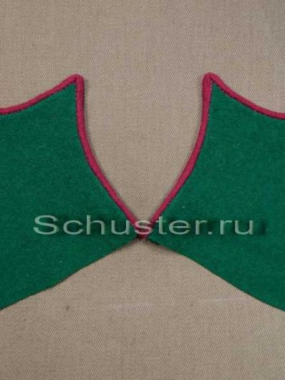 Collar tabs M37/43 on greatcoat (border troops of the NKVD) (Петлицы шинельные обр. 1937-43 гг. (пограничные войска НКВД)) M3-040-Z