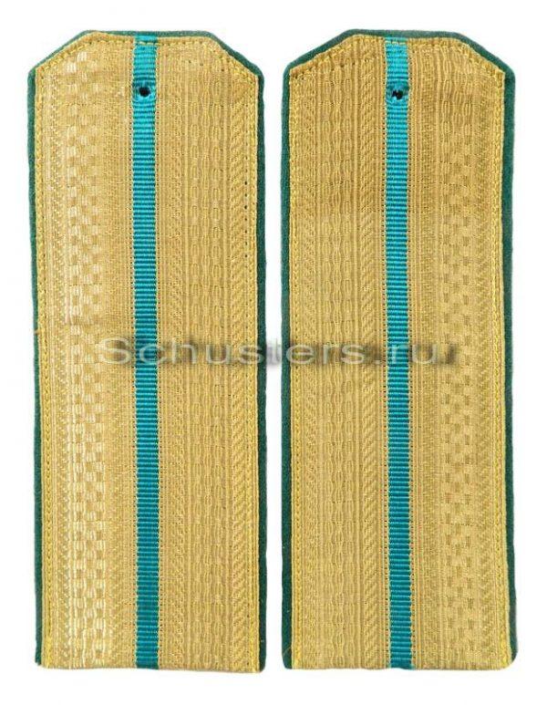 Shoulder Boards Everyday wear (Gold) for Officers (Lieutenant -Captain) (border troops of the NKVD) 1944 (Погоны повседневные офицерские обр. 1944 г. среднего комначсостава (погран-01