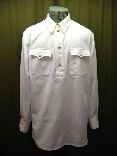 Gimnasterka (white Cotton) M1937 for Officers NKVD (Рубаха летняя белая для комначсостава обр. 1937 г. (НКВД)) M3-029-U