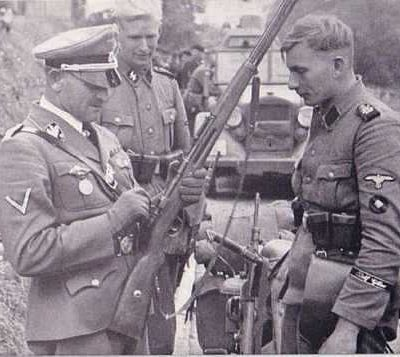 Производство и продажа Шеврон старшего стрелка СС обр.1940 г. (SS Oberschütze) M4-064-Z с доставкой по всему миру