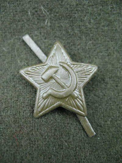 M1941 STAR COCKADE ON FORAGE CAP (Звездочка на пилотку обр. 1941 г. )-01