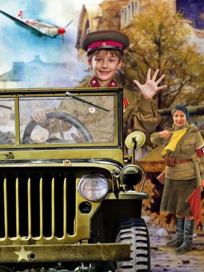 Производство и продажа Гимнастерка (рубаха) хлопчатобумажная для рядового состава обр. 1935 г. (детская) M3-010-Ud с доставкой по всему миру