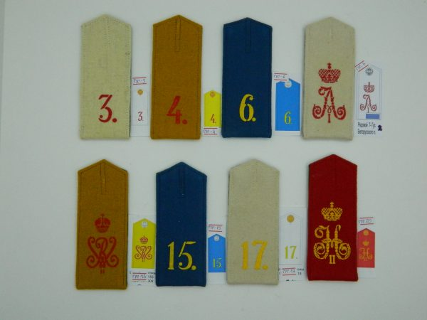 Manufacturing and selling Shoulder straps for a shirt or jacket with the number of the regiment (Погоны на рубаху или китель с номером полка) M1-020-Z production with worldwide delivery